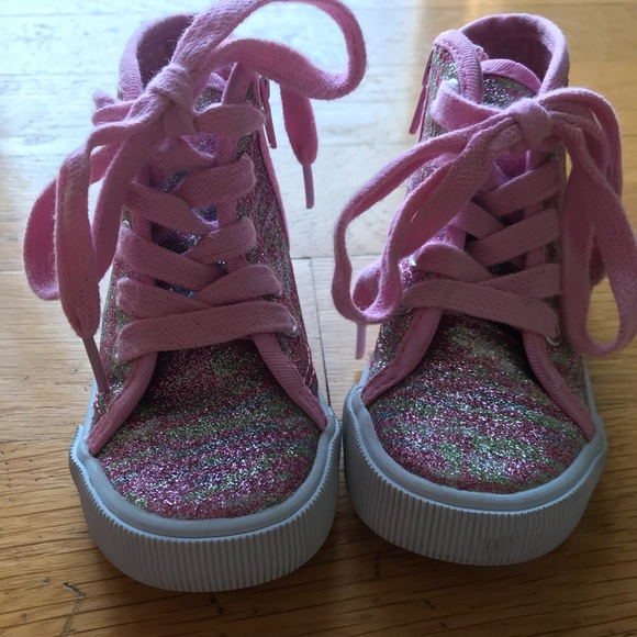 Girls Sparkle High Top Sneakers   Poshmark